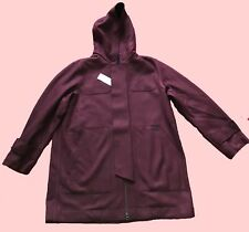 BN Lacoste Hooded Wool Parka VERMOUTH/MARINE SIZE 54 XL GUARANTEED ORIGINAL