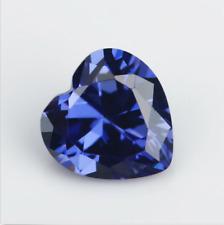 Beautiful Unheated 3.30ct 8x8mm Blue Tanzanite Heart Shape AAAAA Gemstone