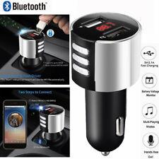 Handsfree Wireless Bluetooth Car Kit FM Transmitter Radio-MP3-Player USB Charger