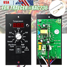 Digital Thermostat Control Board +Probe BAC3236 For Traeger Wood Pellet Grills