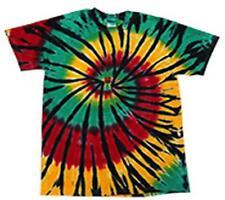 RASTA WEB RAINBOW TYE DYED TEE SHIRT men women SIZE XLG hippie tie dye SWIRL #91