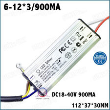 3PCS 85-277V LED Driver 6-12x3 900mA DC18-40V IP67ConstantCurrent 6-12S3B 30WCOB