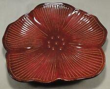 "Pfaltzgraff Sarina 12"" Chop Plate Serving Platter Dish Hibiscus Flower Red"