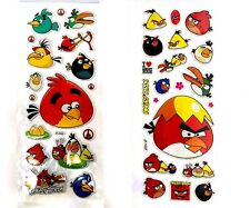 2 Sheets Angry Bird Foam Cartoon 3D Stickers -US Seller - Fast Shipping
