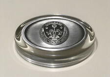 Nwob Loyola University Pewter and Glass Paperweight
