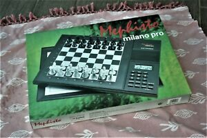 N.O.S Saitek Germany MEPHISTO Milano Pro Chess compurer in box  2200 Elo points