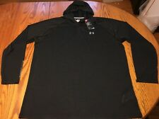 NWT Men's Under Armour HeatGear Tech Popover Hoodie Black Size: 4XLT (4XL-Tall)