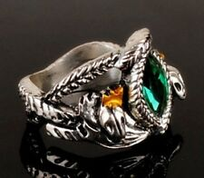 Men Classics Film Lord of the Rings LOTR Aragorn's Ring of Barahir Crystal Ring