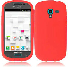 For Samsung Galaxy Exhibit T599 Rubber SILICONE Skin Case Phone Cover Red