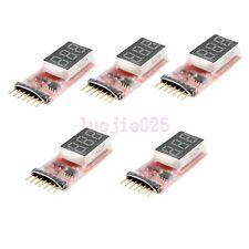 5pcs RC Model Lipo Battery 2s-6s Detect Voltage Indicator Checker Tester Meter