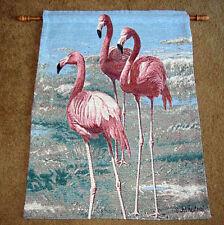 Feathered Flamingo Tapestry Wall Hanging ~Artist, Joseph Hautman