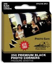 Bulk Sale 4 boxes -250 Pioneer Self Adhesive Black Photo Corners BPC-1
