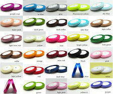 """Pick 25yds(10mm) roll ribbon 3/8"""" Wedding Party Craft Satin Ribbon Solid color"""