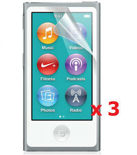 3 x Clear (Invisible) Screen Protector For Apple iPod Nano 7th Generation 7G