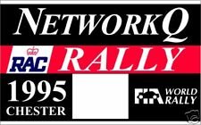 NETWORK Q - RALLY BADGE - RACE NUMBER GRAPHIC / STICKER