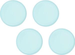 "Microwave Safe Plates 4 Pack Matte Turquoise 10.5"" Dishwasher Safe BPA-FREE"