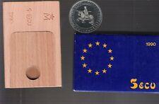 monedas españolas plata 1990 5 Ecus caballero medieval