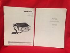 Motorola Motrac Mobile Fm Radio With Extender 25-50 Instr & Service Manuals 1965