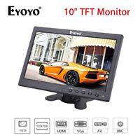 """10"""" TFT LCD Monitor BNC, AV, VGA, HDMI Video Input + Speaker 1024*600 for PC DVD"""