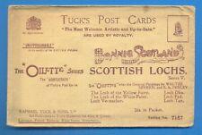 More details for scottish lochs.series 7167.6 tucks oilette postcards with original packet
