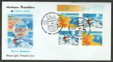AZERBAIJAN 2012 EUROPA CEPT VISIT BOOKLET PANE FIRST DAY COVER
