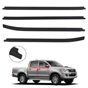 Fit Toyota Hilux Double Cab 05-15 Window Glass Seals Rubber Window Weather Strip