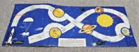Vintage 1950's Space Race Game Board - Board Only