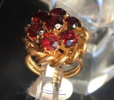 18ct Pink & White Gold Ring w/ Round Brilliant Cut Garnets. Valued at $2500.00!!