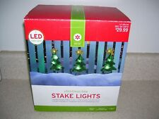 Target LED Christmastree Pathway Lights  Outdoor Lighted Holiday Yard Decor 2082