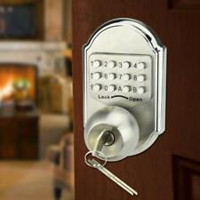 Mechanical Keyless Entry Digital Push Button Door Lock Keypad Code Dead Bolt