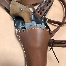 """Colt SAA,Ruger Vaquero,Blackhawk 71/2"""" Huckleberry Leather Western Shoulder Rig"""