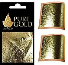 10 x 24K  genuine Gold Leaf Sheets. For Art, Crafts, Design Gilding
