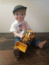 The Danbury Mint JAKE John Deere Construction Doll Porcelain with Tractor Loader