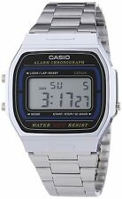 Casio Unisex Stainless Steel Chronograph Retro Watch, 5 ATM, A164WA-1V