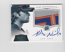 2012 National Treasures KIRK NIEUWENHUIS On Card Autograph Patch Gold RPA #10/25