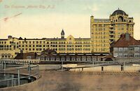 Atlantic City New Jersey~The Traymore Hotel~Across Boardwalk Ramps~1909 Postcard