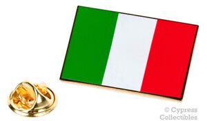 ITALY FLAG ENAMEL LAPEL PIN ITALIAN TRICOLOR TIE TACK BADGE Italia Bandiera NEW