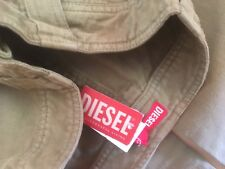 Girls Diesel trousers khaki green age 8 baggy