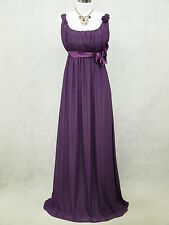 Cherlone Chiffon Purple Ballgown Formal Bridesmaid Wedding/Evening Prom Dress