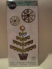 Sizzix Thinlits lecure Potter Christmas Tree & Fiocchi di neve 3 DIE 660726 NUOVO con confezione * Look *