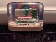Vtg Plastic Snow Globe Cube Souvenir Travel Niagara Falls Canada Maid Of Mist