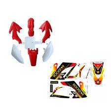 CRF50 White Red Plastics Kit + Stickers 50cc/70cc/90cc/110/125cc Atomik Pitpro