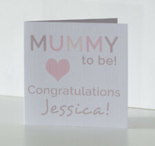 Personalised Baby Shower Mum to Be Leaving to Have a Baby Card Congratulations
