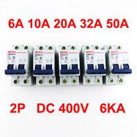 6A/10A/20A/32A/50A 2P Miniature Circuit Breaker DC 400V 6KA 2 Pole DC Air Switch
