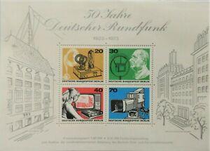 128.GERMANY 1973 STAMP M/S GERMAN BROADCASTING. MNH