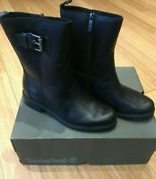 Timberland Ladies Boots | Biker | Black Leather | 100% GENUINE | Free Delivery