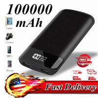 Fashion 100000mAh Portable Power Bank  Mobile Charger External Battery
