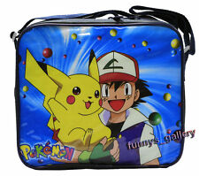 Pokemon Pikachu Insulated Cooler Snack Lunch Bag tote + Lunch Box & Bottle
