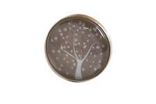 Tuchhalter,Magnet,Brosche aus Edelstahl.Handgemacht!20mm,Baum türkis auf grau