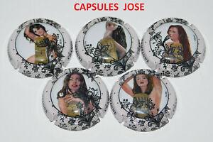 Série de 5 Capsules de champagne GENERIQUE (Les Femmes)